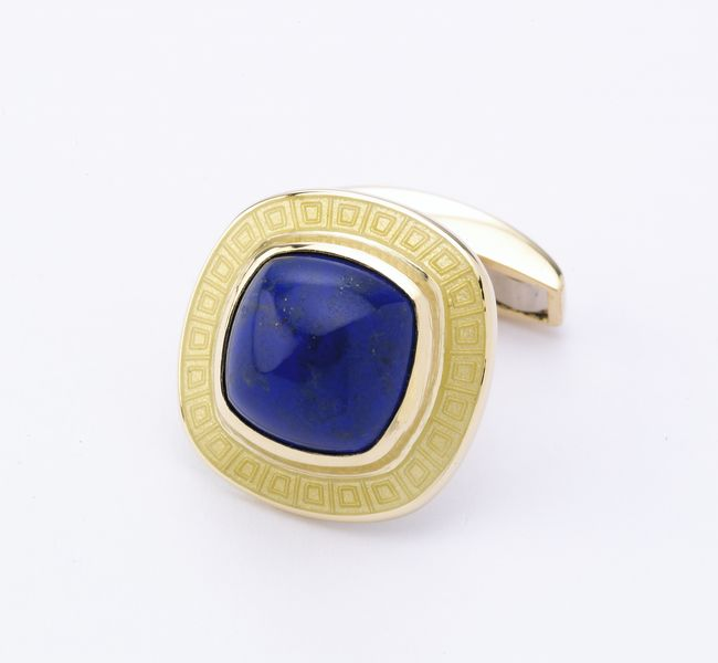 Classic lapis golf cufflinks for a day in town