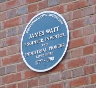 James Watt blue plaque 1777-1790