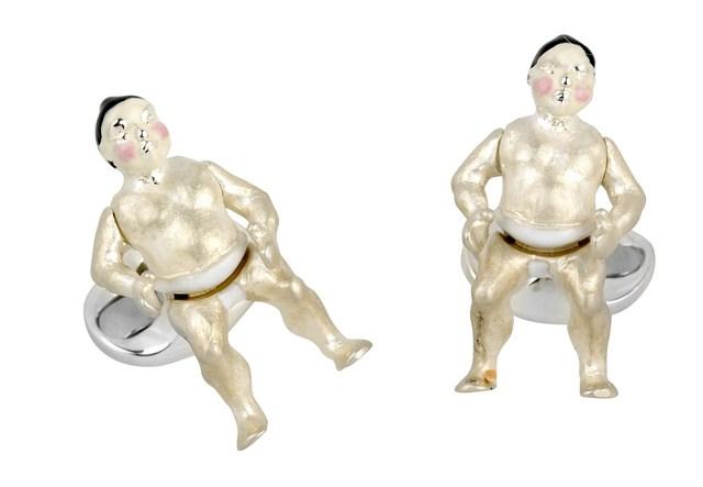 Sumo Wrestler Cufflinks