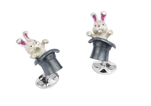 Rabbit in Hat Cufflinks