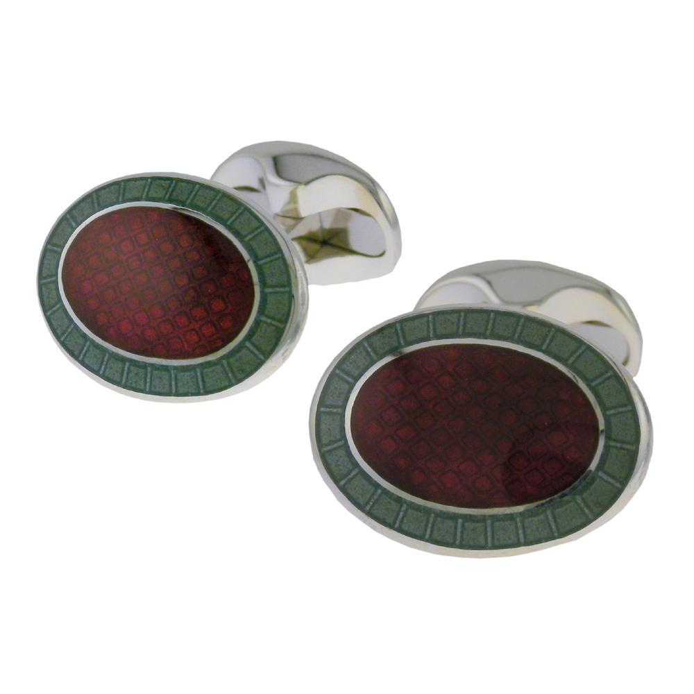 Vitreous enamel cufflinks