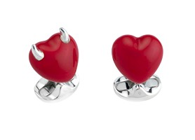 Good and Bad Heart Cufflinks