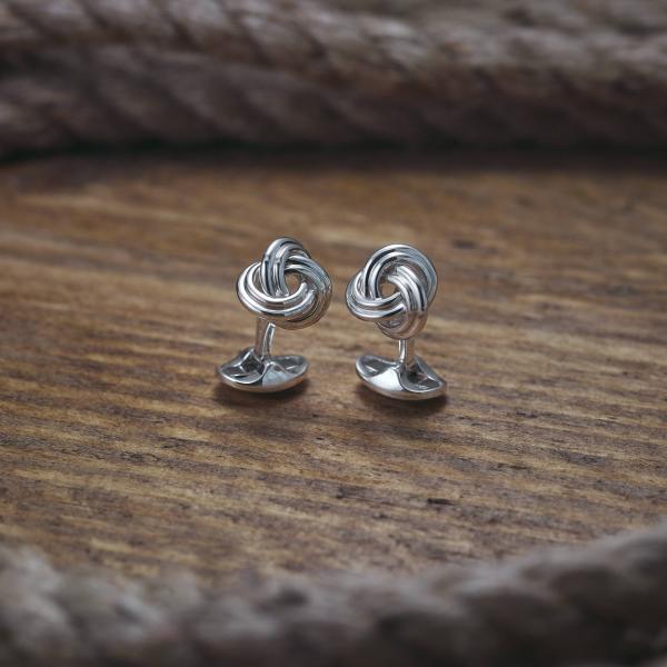 Sterling Silver Knot Cufflinks