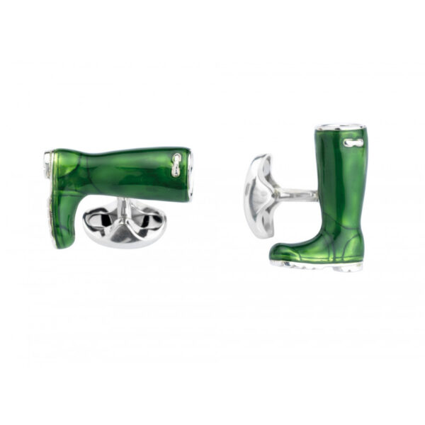 Sterling Silver Wellington Boot Cufflinks