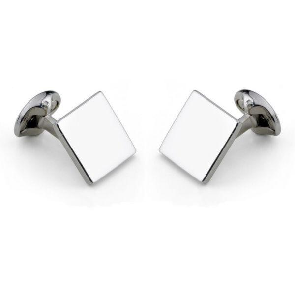Sterling Silver Plain Square Cufflinks