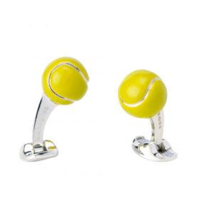 Sterling Silver Tennis Ball Cufflinks