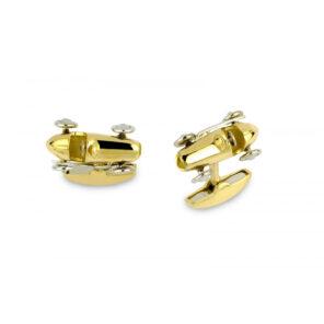18ct Yellow Gold Racing Car Cufflinks