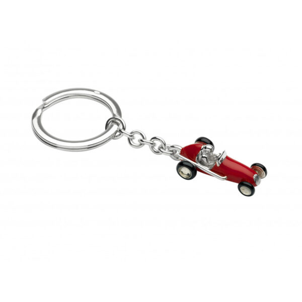 Sterling Silver Racing Car Keyring