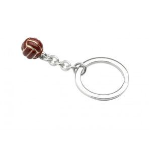 Sterling Silver Soccer Ball Keyring
