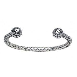 Sterling Silver Plaited Bangle