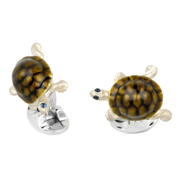 Sterling Silver Walking Tortoise Cufflinks