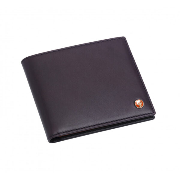 Leather Money Clip Wallet in Burgundy