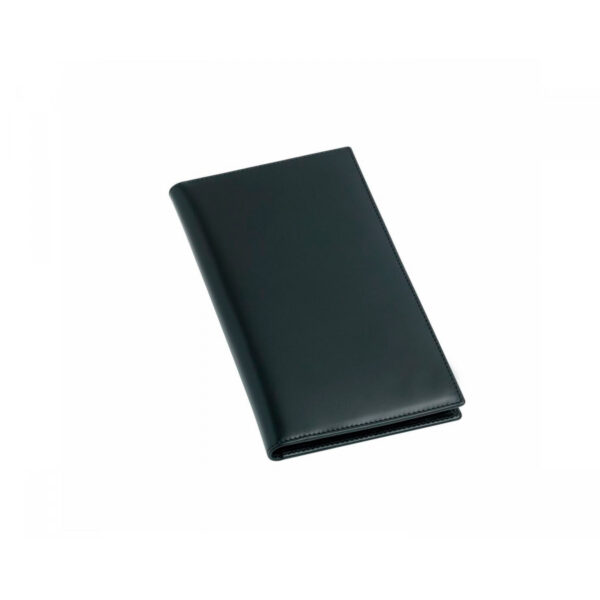 Leather Gents Chequebook Wallet in Black