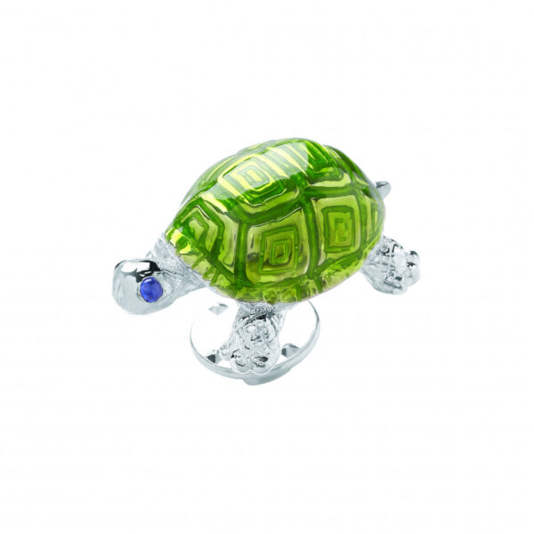 Sterling Silver Tortoise Lapel Pin