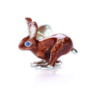 Sterling Silver Hare Lapel Pin