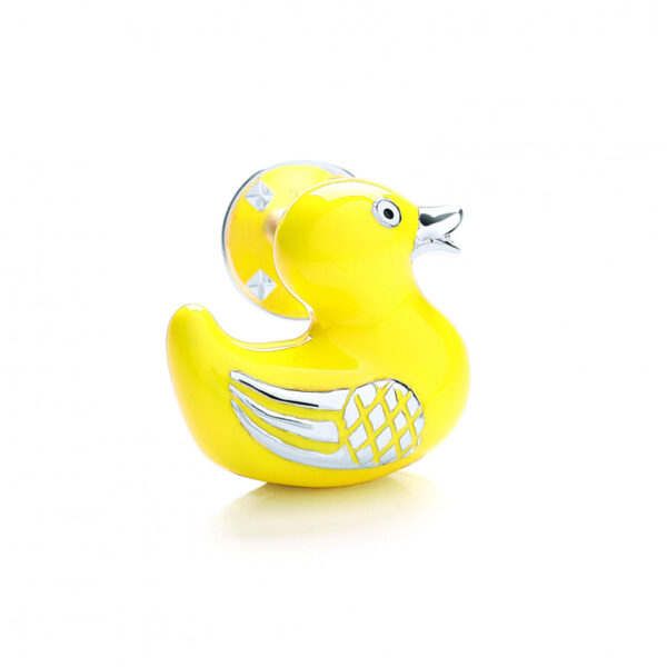 Sterling Silver Rubber Duck Lapel Pin