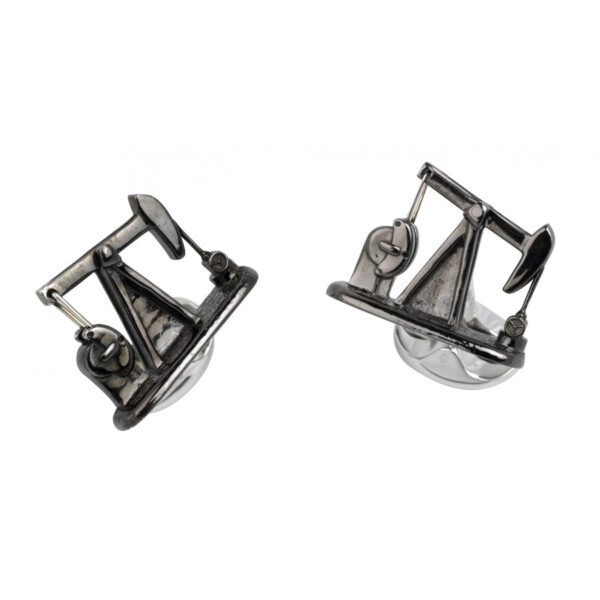 Sterling Silver Nodding Donkey Cufflinks