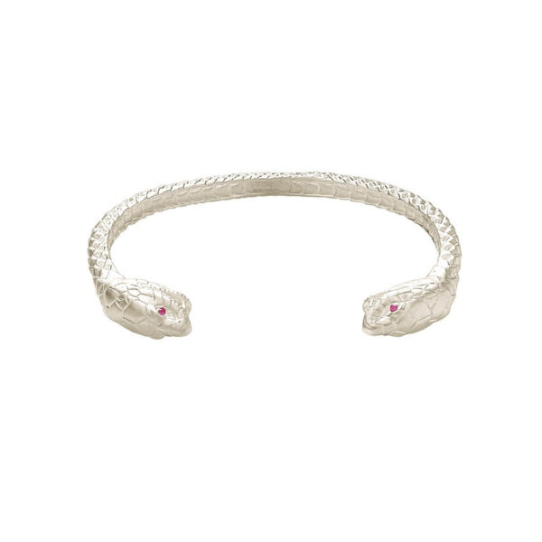 Sterling Silver Cobra Bangle