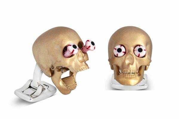 Eye Popping Skulls in Rose Gold Satin Finish