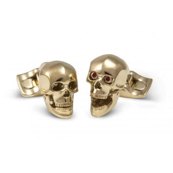 Skull Head Cufflinks In A Gold Finish