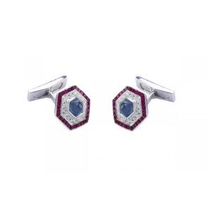 Ruby cufflinks