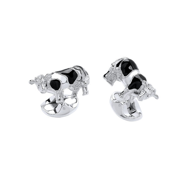 Sterling Silver Cow Cufflinks