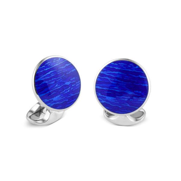 Sterling Silver Royal Blue Cufflinks