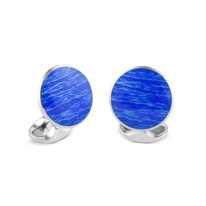 Sterling Silver Ocean Blue Cufflinks