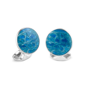 Sterling Silver Turquoise Blue Cufflinks