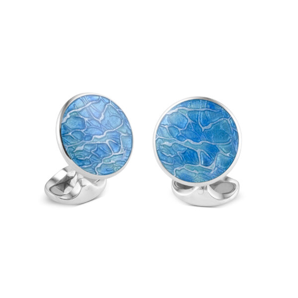 Sterling Silver Pastel Blue Cufflinks