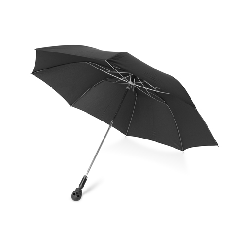 Small Umbrella With Skull Head Handle In Matte Black