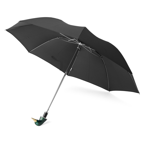 Small Black Umbrella With Enamel Duck Head Handle