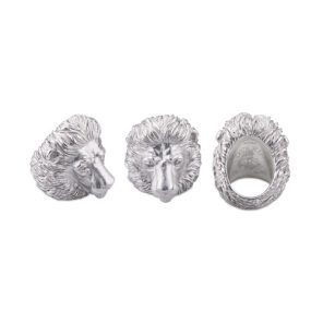 Sterling Silver Proud Lion Ring