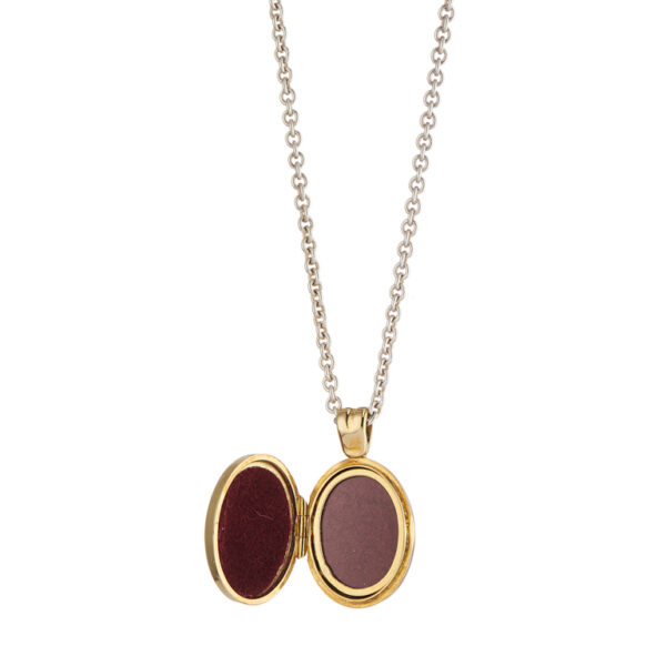 18ct Yellow Gold Royal Blue And Red Enamel Locket