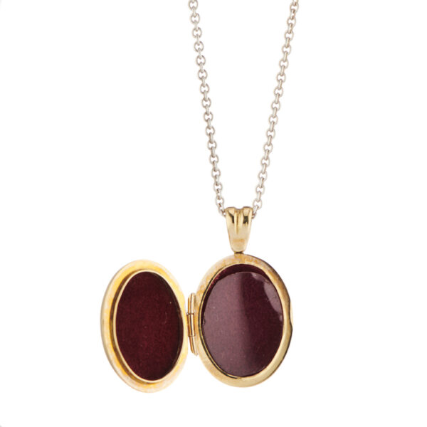 18ct Yellow Gold Black And Red Enamel Locket