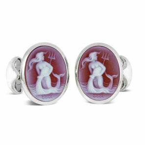 Sterling Silver Zodiac Cufflinks - Aquarius