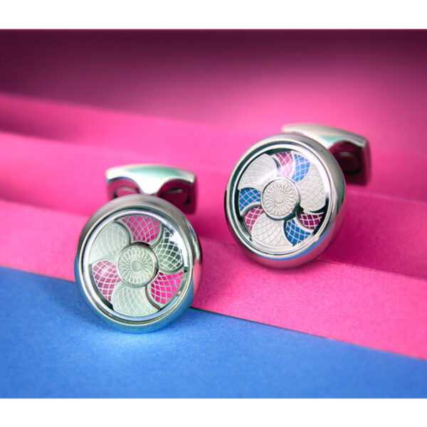 Blue and Pink Colour Change Cufflinks
