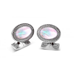 Oval Cufflinks with Mother-of-Pearl