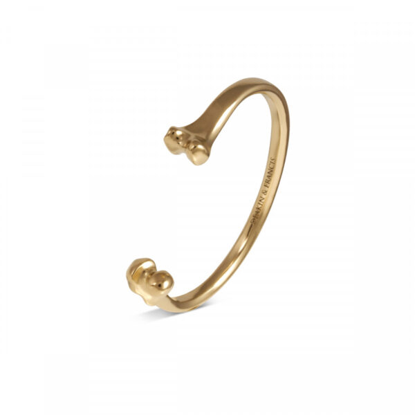 Fundamentals Bone Bangle in a Gold Finish