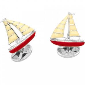 Sterling Silver Yacht Cufflinks