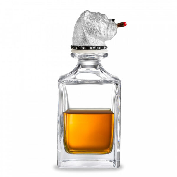 Bulldog Crystal Decanter