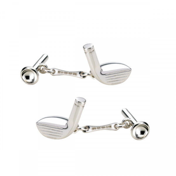 Sterling Silver Golf Club & Tee Cufflinks
