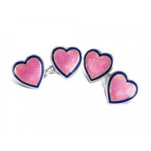 Sterling Silver Heart Cufflinks