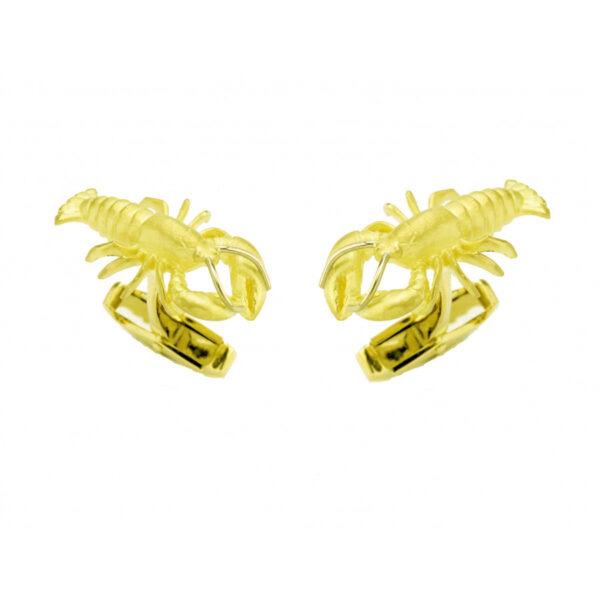 18ct Yellow Gold Lobster Cufflinks