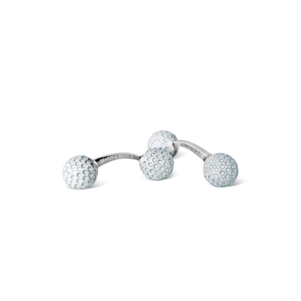 Sterling Silver Golf Ball Bar Cufflinks