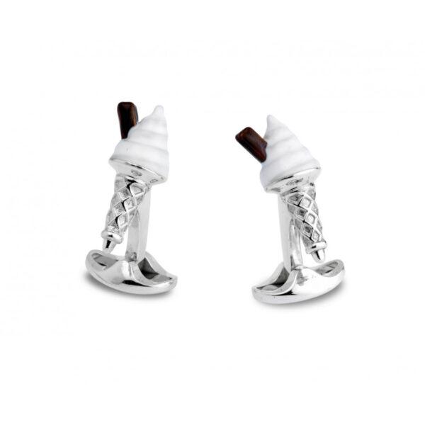 Sterling Silver Ice Cream Cufflinks