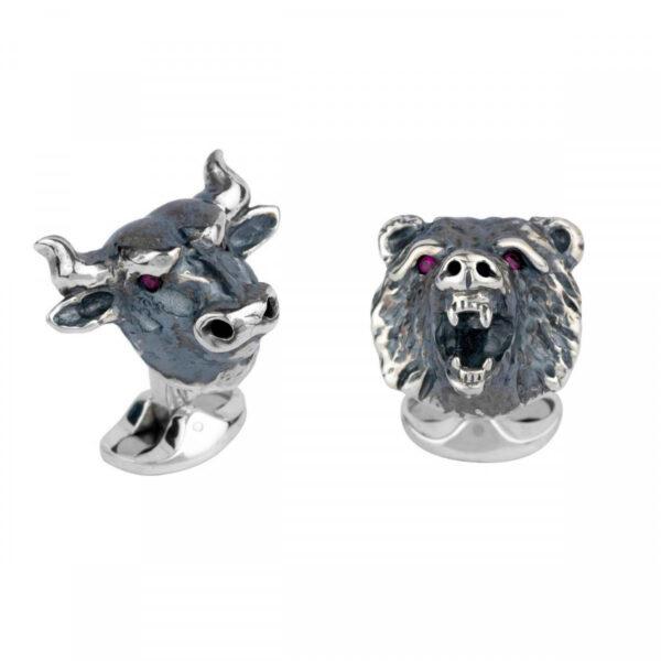 bull and bear cufflinks