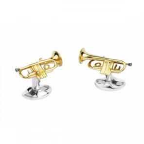 Sterling Silver Trumpet Cufflinks