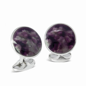 Deep Berry Winter Haze Enamel Cufflinks