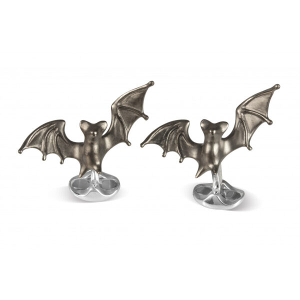 Sterling Silver 'Frightful' Bat Cufflinks